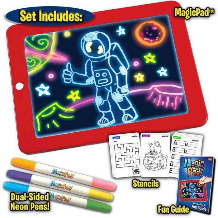 3D Magic LED Conseil d'écriture, Art Creative Pad avec un Pinceau de Dessin, Hi-Tech Portable Planche à Dessin pour Enfant