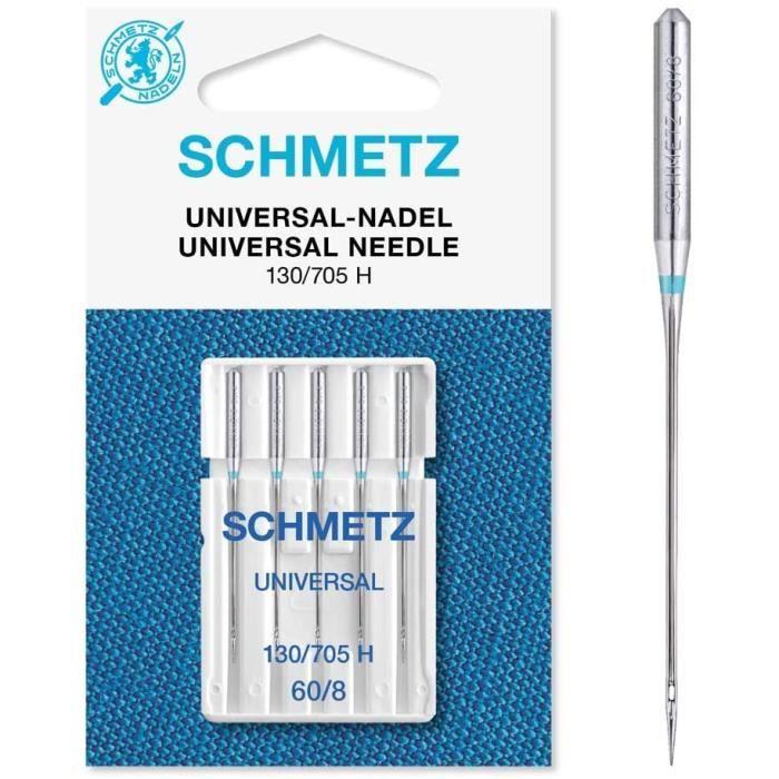 Schmetz 5 aiguilles universelles pour machine à coudre 130/705, Size: 60/8