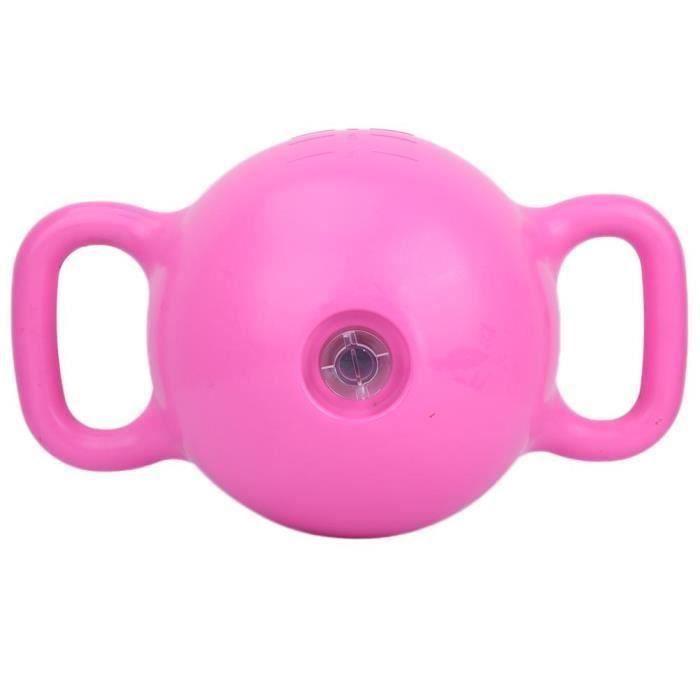 Haltère fitness Sport Gym Fitness Haltères de yoga remplis d'eau Kettlebell poids réglable (rose)
