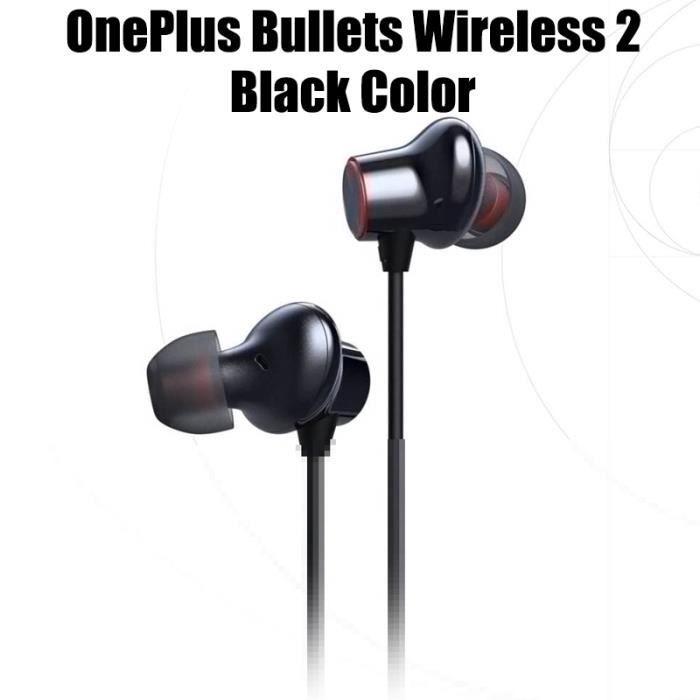 Oreillettes Bluetooth Original OnePlus balles sans fil 2 écouteurs AptX contrôle magnétique hybride Google - Wireless 2 Black #D