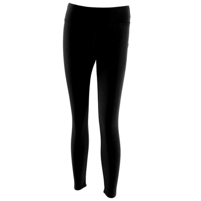 Dioche pantalons de sport Femmes Yoga Gym Pantalon de sport Hip Push Up Leggings Fitness Workout Stretch (Noir XL)
