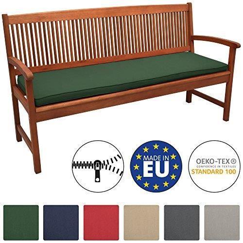 Beautissu Coussin Banc Banquette Loft BK 180x48x5 cm - Vert foncé - Jardin Terrasse Balcon Extérieur - Haute qualité