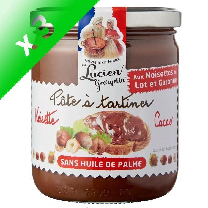 [LOT DE 3] Pâte à tartiner noisette/cacao 400g LES RECETTES CUITES AU CHAUDRON