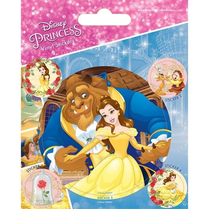 Pack de 5 Stickers La Belle et la Bête Disney Pause Canap