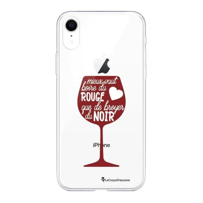 Coque iPhone Xr 360 intégrale Mieux Vaut Boire du Vin Rouge Ecriture Tendance Design La Coque Francaise