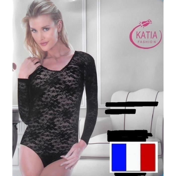 BODY SEXY TAILLE S / M FEMME FILLE Résille Lingerie Sous-Vêtements Transparent Érotique Nuisette Combinaison Manches Longues