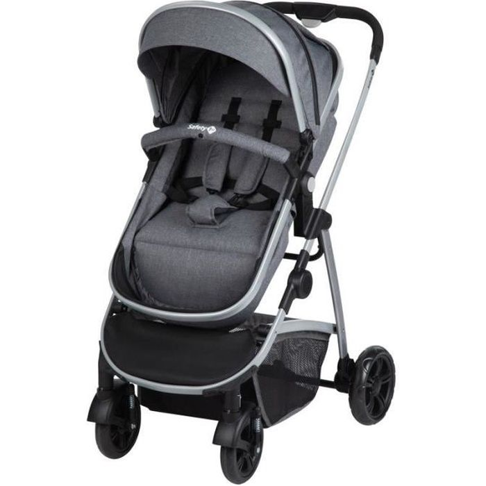 SAFETY FIRST Poussette Hello 2en1 (Convertible Nacelle Non Securitaire) + Adaptateurs Cabriofix Et Citi Black Chic