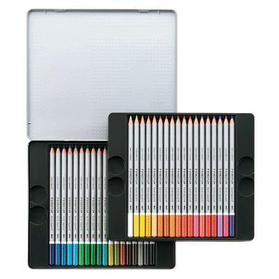 Crayon de couleur aquarellable karat assorti - x36
