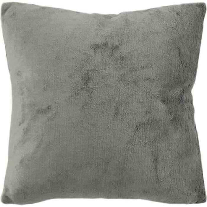 Coussin gris extra doux 40x40cm COMETE 40 x 40 cm Gris