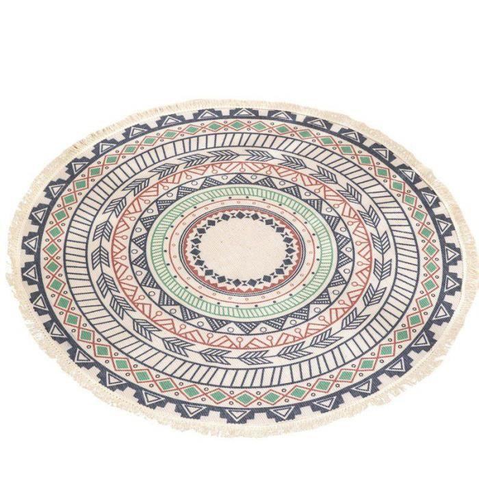 Salon Table basse Tapis de sol imprimé Tapis de sol Chambre à coucher Etudier rond tapis,UB1000A1