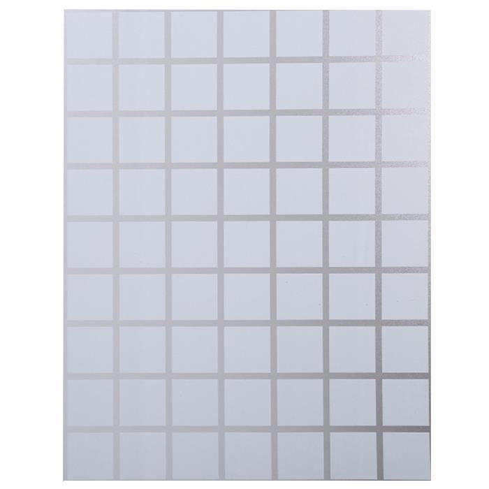 1 rouleau blanc carré verre dépoli film auto-adhésif créatif durable fenêtre PARE-SOLEIL - BANDE SOLAIRE - FILM SOLAIRE