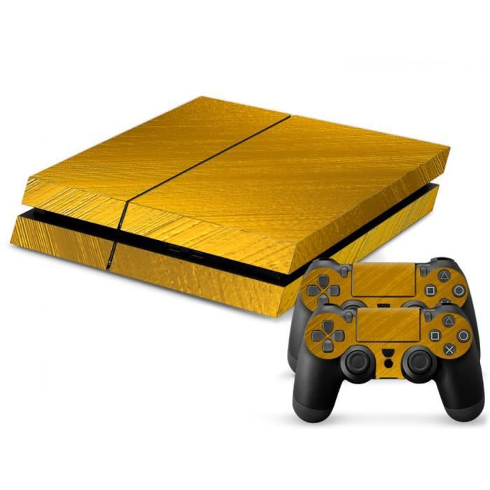 Or Pour Ps4 Stickers Skin Pour Playstation 4 Ps 4 Console