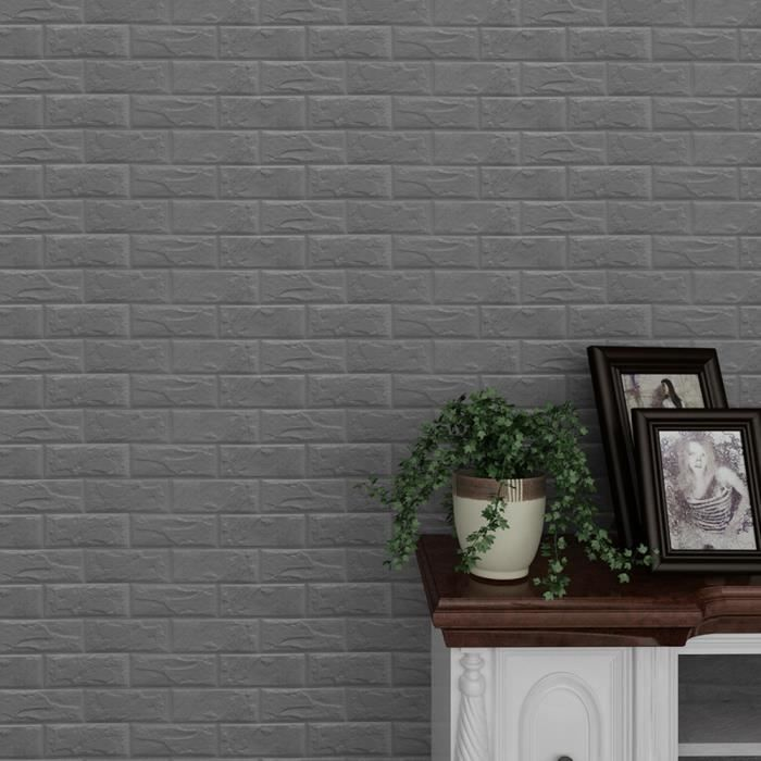 Mousse PE Autocollant Mural 3D Brique Pierre en Relief Papier Peint À faire soi-même Wall Home Decor Lot