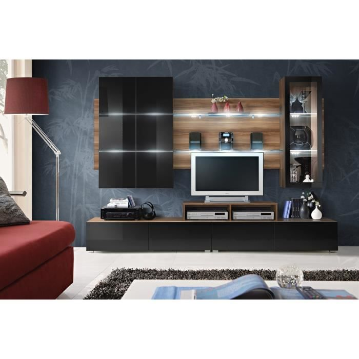 Meuble de salon tv complet design clips led achat vente meuble tv meubl - Meuble salon complet ...