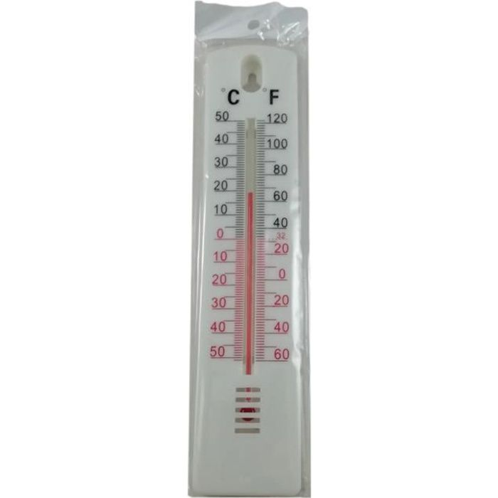 2er Set Design Intérieur Extérieur Thermomètre maison jardin Capteur Thermique