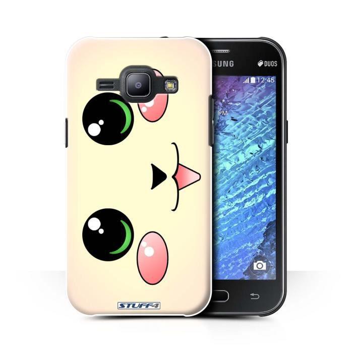 Coque pour Samsung Galaxy J1 Ace/J110 / Chat/Chaton Design ...