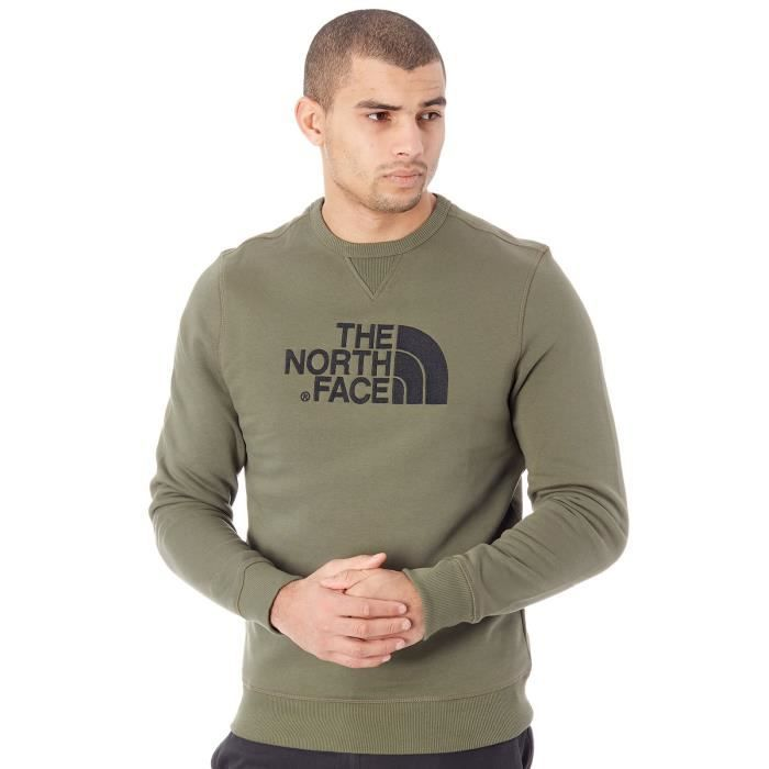 2e78c64983 Pull The North Face Drew Peak - Crew New Taupe Vert Vert Vert foncé ...