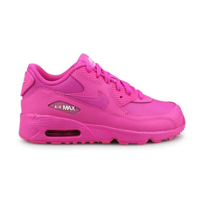 Nike Air Max 90 Leather Enfant Rose ROSE - Cdiscount Chaussures