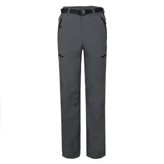 PANTALON - SHORT DE MONTAGNE Pantalon Softshell Randonnée Doublé Polaire Coupe-