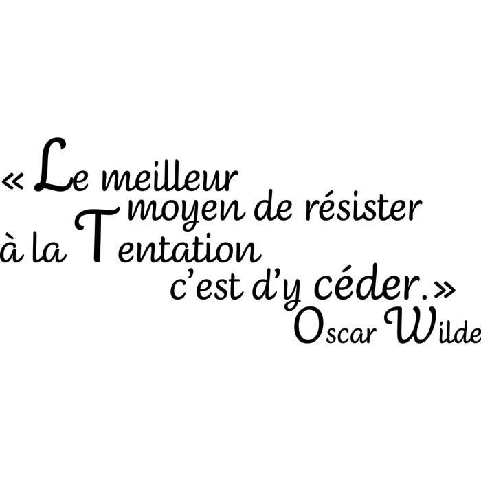 Sticker Citation 100 Oscar Wilde 133x57 Cm Achat Vente