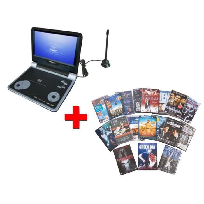 pack lecteur dvd portable tv avec d codeur tnt 20 films dvd sigmatek pdx 3900 lecteur dvd. Black Bedroom Furniture Sets. Home Design Ideas