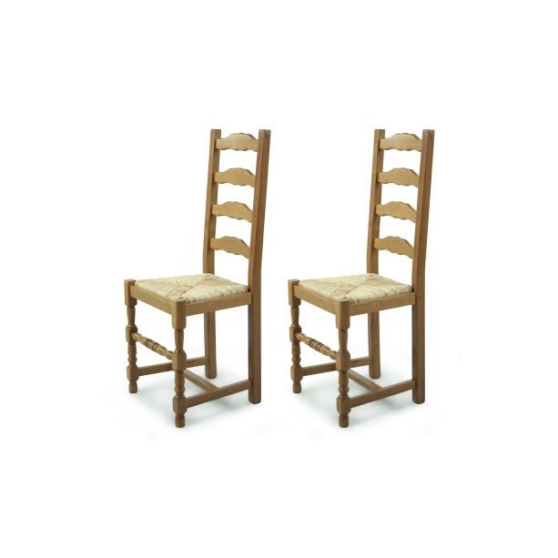 lot de 2 chaises en bois positano paille achat vente. Black Bedroom Furniture Sets. Home Design Ideas