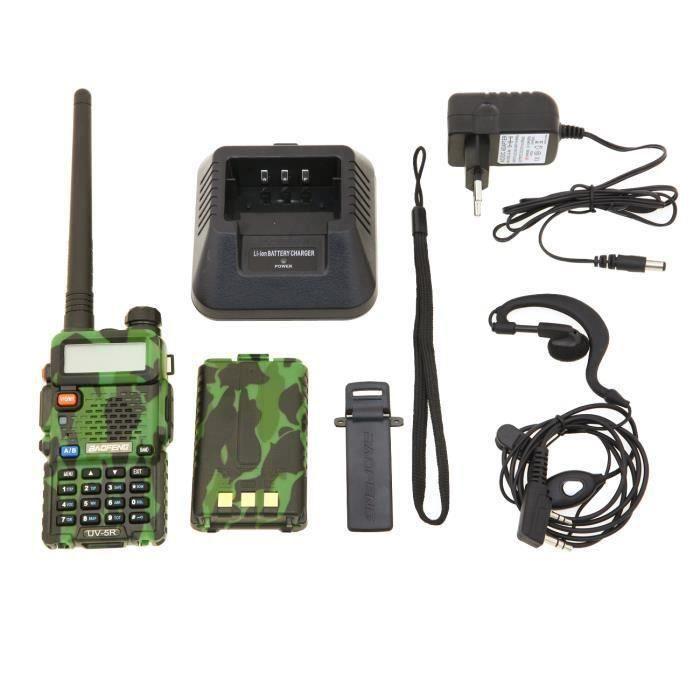 TALKIE-WALKIE 2 PCS Baofeng UV-5R Talkie-walkie FM radio VHF/UHF