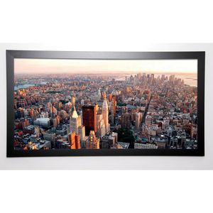 PHOTOGRAPHY COLLECTION Image encadrée NY City Manhattan Sunset 57x107 cm Rose