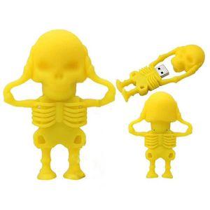 CLÉ USB 64GB USB 2.0 Flash Drive nouveauté Skull Shape Ske