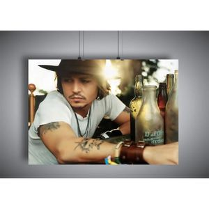AFFICHE - POSTER Poster Johnny Depp Acteur hollywood wall art 01 -