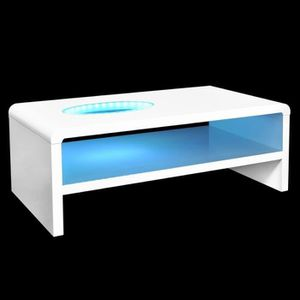 table basse led achat vente table basse led pas cher cdiscount. Black Bedroom Furniture Sets. Home Design Ideas