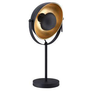 LAMPE A POSER Lampe en métal style Industriel avec réflecteur or