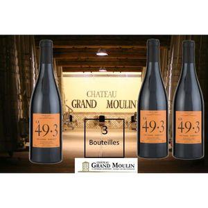 VIN ROUGE 3 Bouteilles  - LE 49.3  Vin Rouge - Vin de France