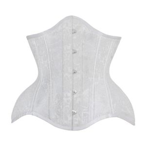SUPPORT TAILLE - COUPE  Serre taille forme courbée, taille serrée, blanc à