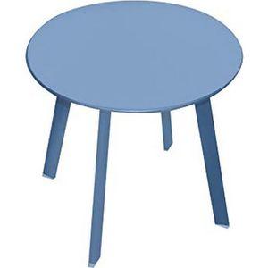 TABLE BASSE BLEU TABLE BASSE APPOINT PORTABLE DÉMONTABLE METAL