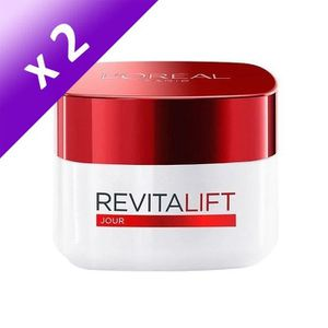 HYDRATANT VISAGE L'ORÉAL Paris Revitalift Soin Jour - 50 ml (Lot de