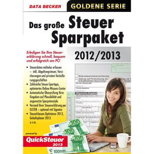 UTILITAIRE Data Becker Steuer-Spar-Paket 2012-2013, Windows 8