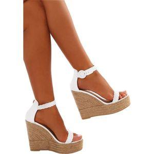 SANDALE - NU-PIEDS Minetom Sandales Femme Mode Casual Cheville Sandal