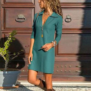 ROBE Robe Courte Femmes manches longues Casual Mini rob