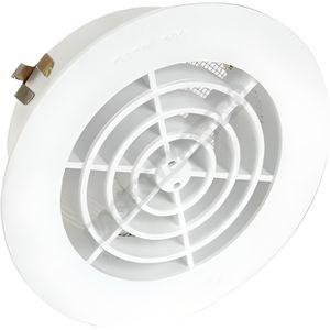 VMC - ACCESSOIRES VMC Grille ronde intérieure avec moustiquaire PVC diam