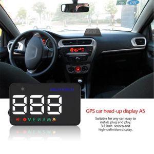 ALLUMAGE AUTO DES FEUX A5 tête haute montrant les chiffres LED de voiture