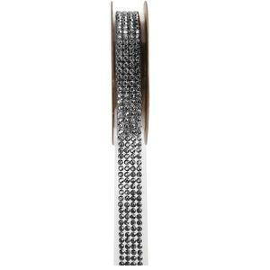 SEQUIN - STRASS REF/5267 - 1 Ruban strass autocollant argent 15mm