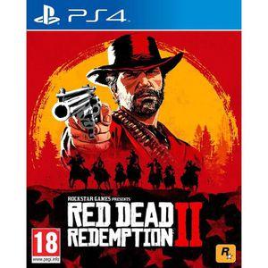 JEU PS4 Red Dead Redemption 2 Jeu PS4 + 1 Skull Sticker of