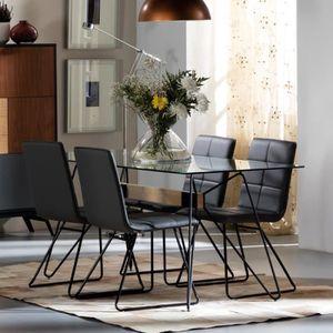 TABLE À MANGER SEULE Table de repas Piétement filiforme - COLETTE - L 1