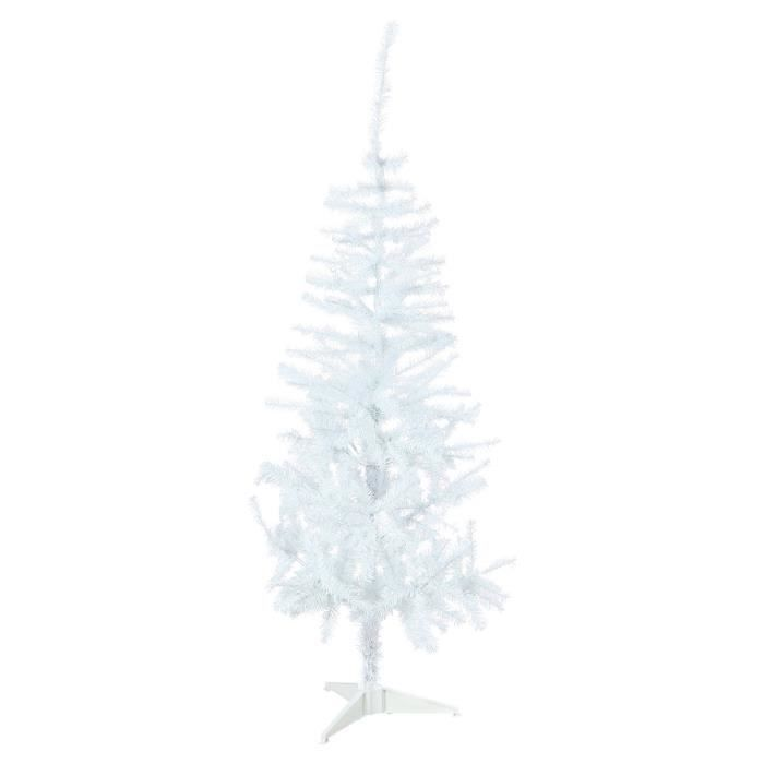 sapin de no l artificiel blanc 150 cm achat vente sapin arbre de no l pvc cdiscount. Black Bedroom Furniture Sets. Home Design Ideas