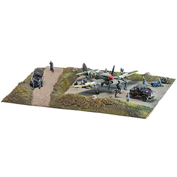 Kit Modelisme A Construire QL1CZ DDay Air Assault 1:72 WWII Military Diorama Plastic Set A5157A, Multi