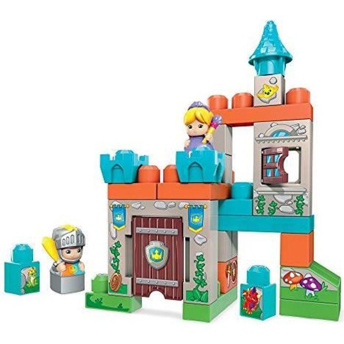 Mega Bloks Château Fort, jeu de blocs de construction, 30 pièces, jouet pour bébé et enfant de 1 à 5 ans, FMC01 FMC01
