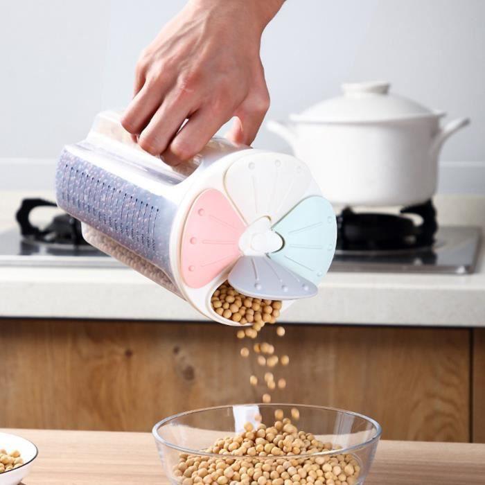Boîte de rangement en plastique transparent Boîte de conteneur de stockage de nourriture séchée à sec HHA90805968C_Occ