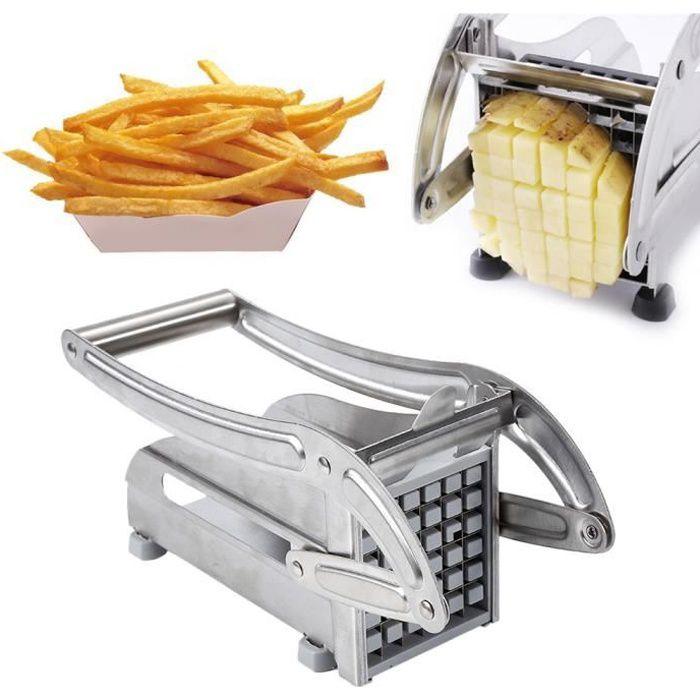 MISS Coupe-Frites et Légumes Professionnel en Acier Inoxydable avec 2 Lames pour Faciliter le Tranchage