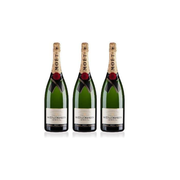 Lot de 3 Champagne Moët & Chandon Impérial Brut 75cL
